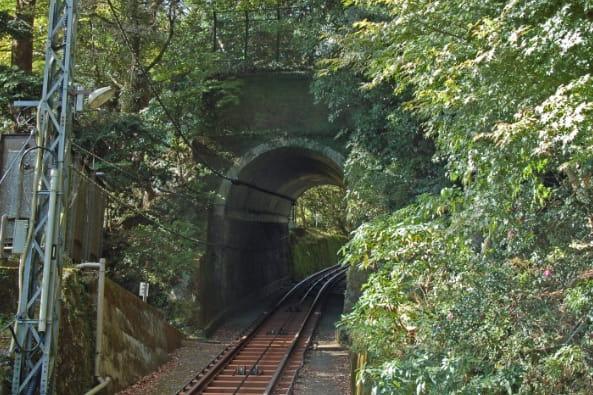 大山観光電鉄トンネル点検の写真